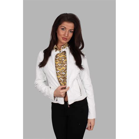 white faux leather white quilted faux leather jacket parisia fashion