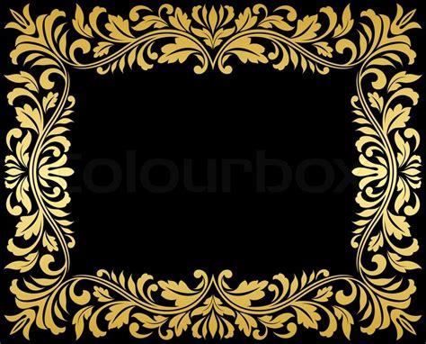 Vintage Retro Home Decor vintage gold frame with floral elements stock photo