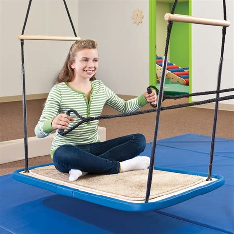 platform swing therapy pull handles rope sensory integration southpaw