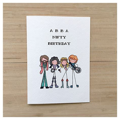 Birthday Puns For Cards Abba Card Birthday Card Greeting Card Funny Card