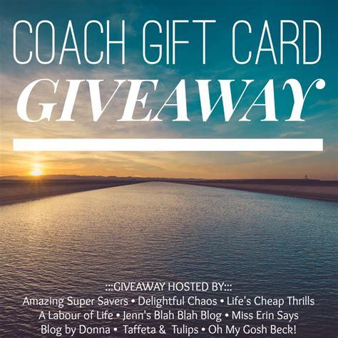 Life Uniform Gift Card - summer uniform coach giveaway taffeta and tulips