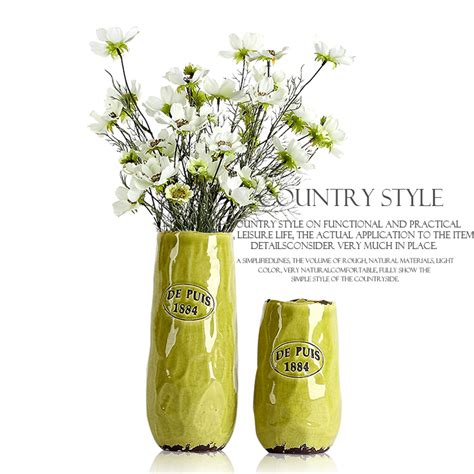 Large Yellow Floor Vase Yellow Green Vase Of Modern Nordic American Country Style