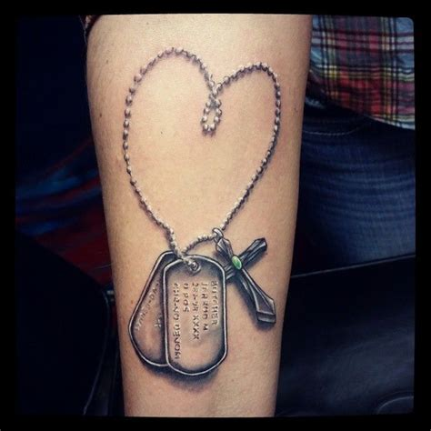 cross with dog tags tattoo 25 best ideas about tags on