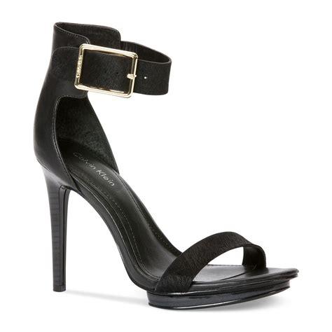 calvin klein high heels calvin klein s high heel sandals in black