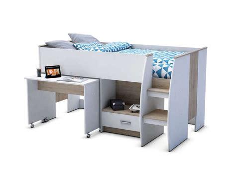 combiné lit bureau conforama lit sur 233 lev 233 90x190 cm enzo 2 vente de lit b 233 b 233