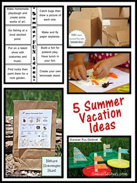 may vacation ideas 5 summer vacation ideas five little chefs