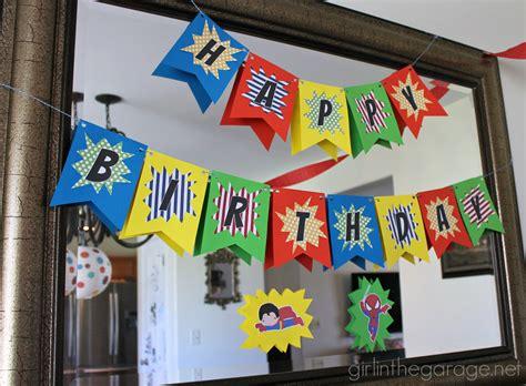 Delightful Gingerbread Themed Christmas Party #3: IMG_2546-superhero-birthday-banner-kitchen.jpg