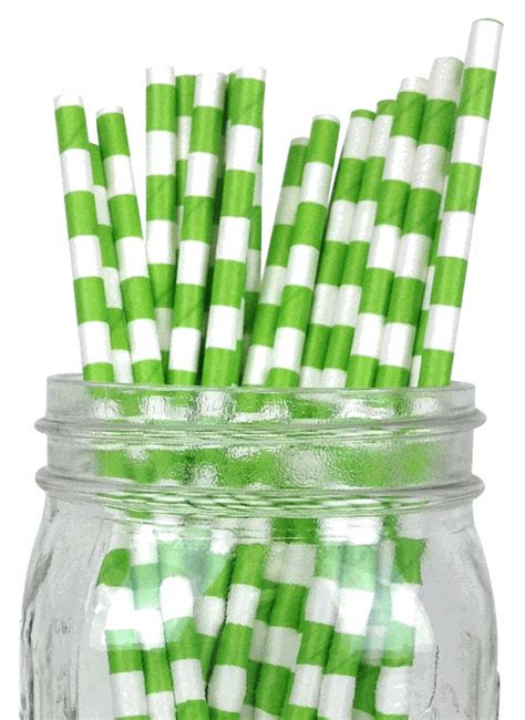 How To Make A Rugby Out Of Paper - rugby stripe paper straws 100pcs green apple