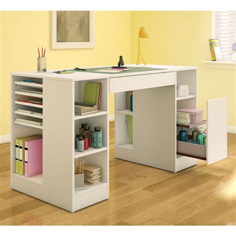 desk with storage hobby table craft table desk crafting work storage