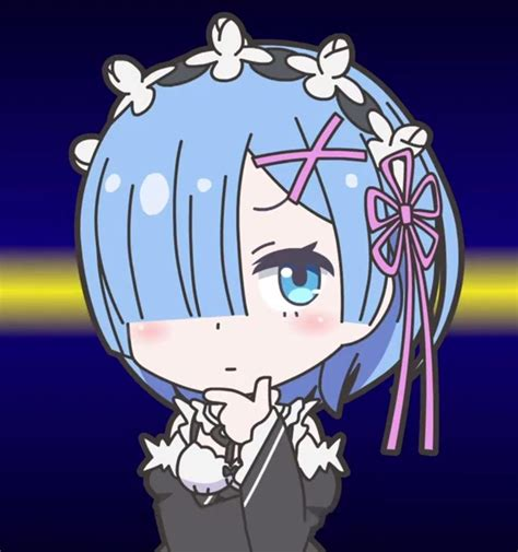 Kaos Rem Chibi Re Zero Hobiku Anime Store re zero chibi rem by potato land on deviantart