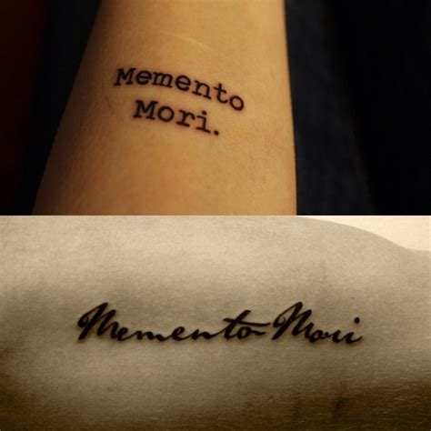 memento tattoos memento mori remember you must die tattoos