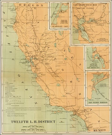 l district san diego twelfth l h district california with insets of san