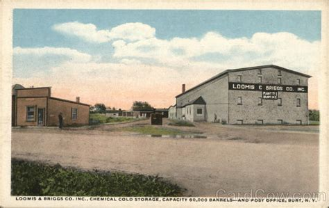 Loomis Post Office by Loomis Briggs Co Inc Chemical Cold Storage And Post Office Burt Ny Postcard