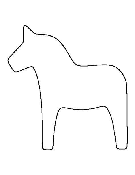 printable donkey templates dala horse pattern use the printable outline for crafts