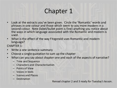 themes great gatsby chapter 1 key themes in chapter 4 of the great gatsby important