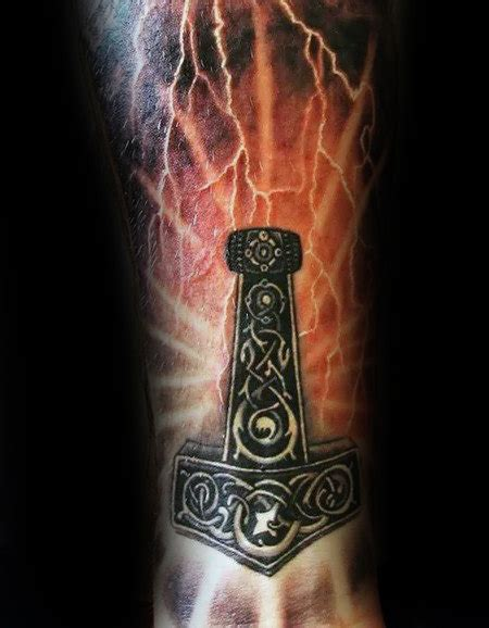 thor hammer tattoo glow in the dark 70 mjolnir tattoo designs for men hammer of thor ideas