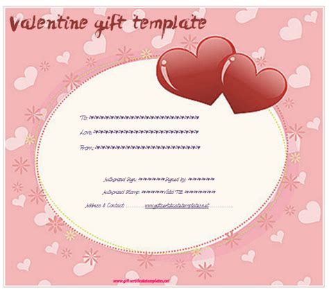 valentine gift certificate template free gift ftempo
