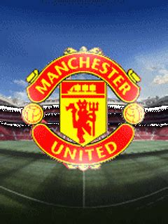 wallpaper animasi manchester united animasi bergerak sepakbola 5 logo manchester united mu