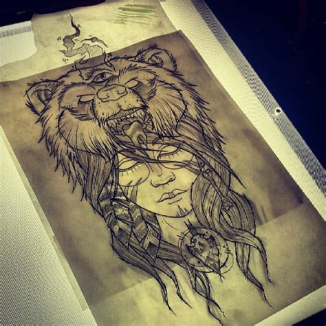 native american bear tattoos american with on design