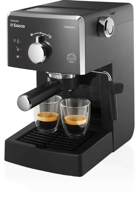 les philips poemia machine espresso manuelle hd8323 01 saeco