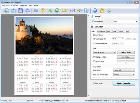 calendar design free software photo calendar maker download
