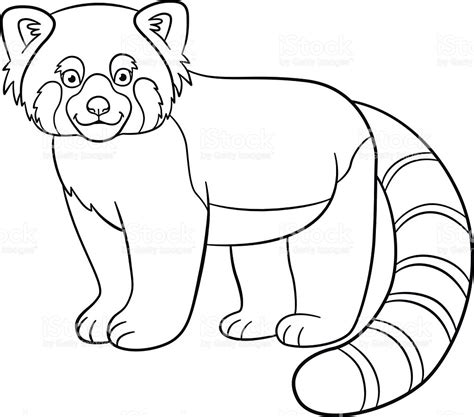 luxury red panda coloring page artsybarksy