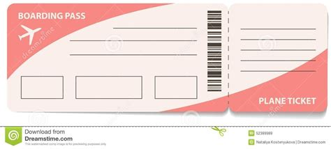 plane ticket template for gift the letter sle