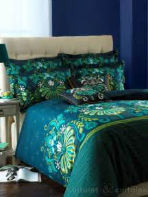 Double Duvet Size In Inches Glamour Teal Luxury Reversible Printed Duvet Cove Bedding Uk