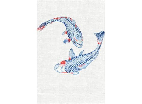 home design brand towels koi guest towel by anali bedside manor ltd