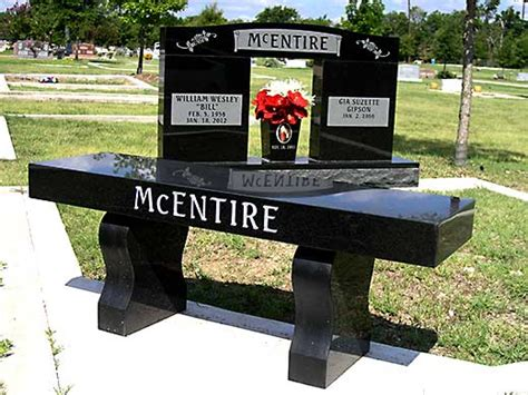graveside memorial benches avalon monuments memorials benches headstones vases and