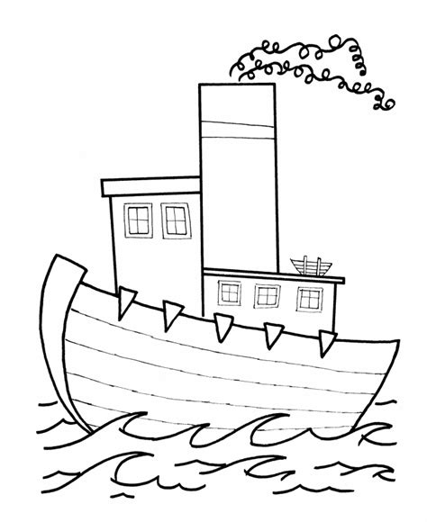 boat shape drawing learning years toy boat to color simple shape