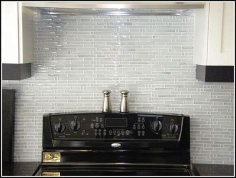 Glass Tile Backsplash Kitchen by White Glass Tile Backsplash Kitchen Tiles Home Design Ideas