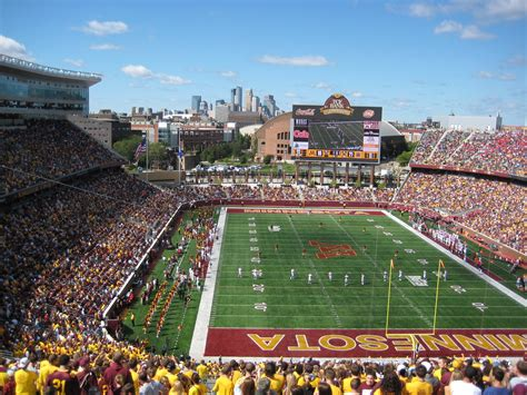 tcf bank stadium awesome fans eye view of all 32 nfl stadiums 2014 hi