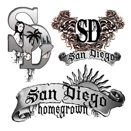 san diego 1 temporary tattoo sheets