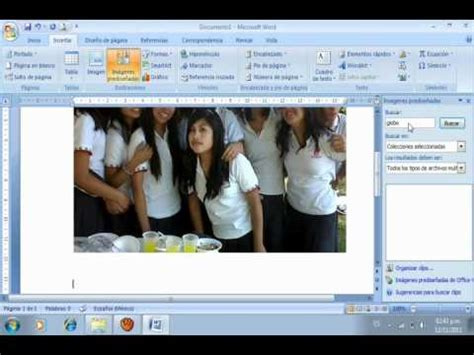 modificar varias imagenes word como insertar y modificar una imagen en word youtube