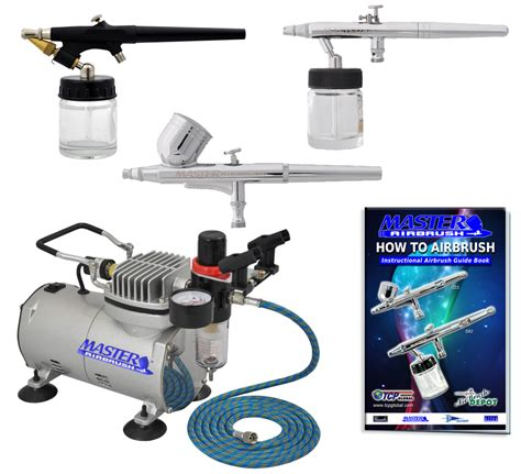 Airbrush Kit 3 3 airbrush system kit w g22 s68 e91 master airbrushes tc 20 air compressor w airbrush holder