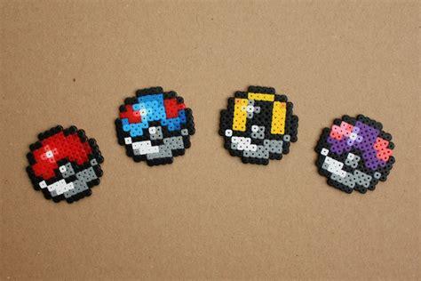 bead sprite mini pokeball hama perler bead sprite