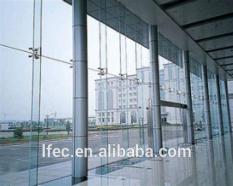 seamless curtain wall cheap facade system tempered clear frameless glass curtain