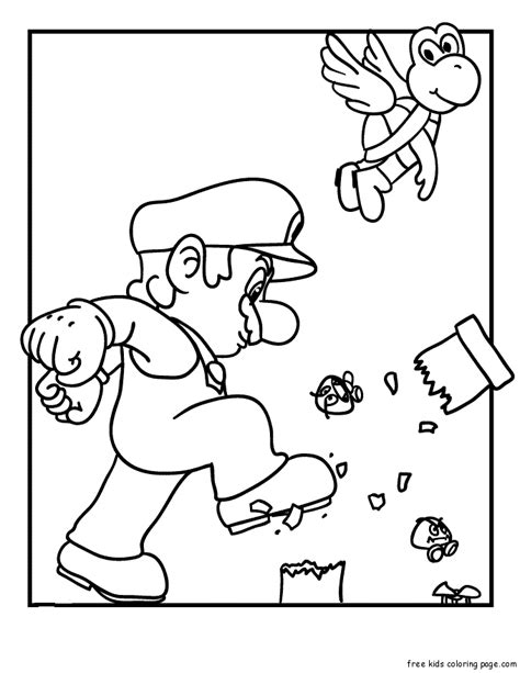 colouring pictures of super mario brothersfree printable