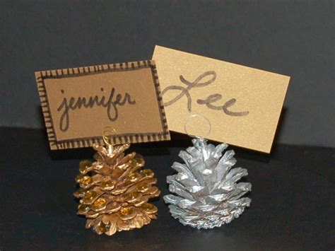 10 ideas for christmas place card holders the bright pine cone place card holders hgtv