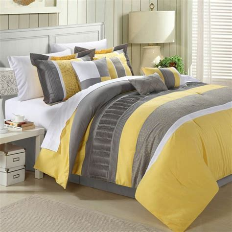 Grey And Yellow Bed Sets Yellow And Grey Bedding Sets Home Furniture Design