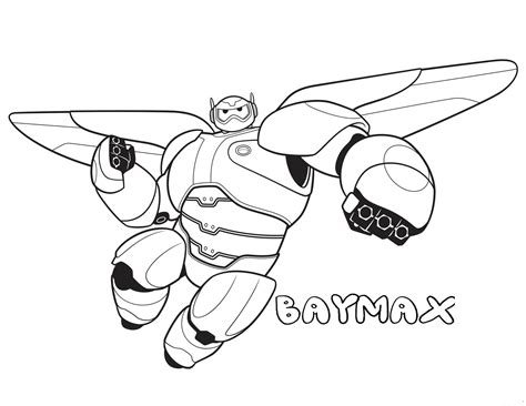 coloring pages to print big printable big 6 baymax coloring pages for kidsfree