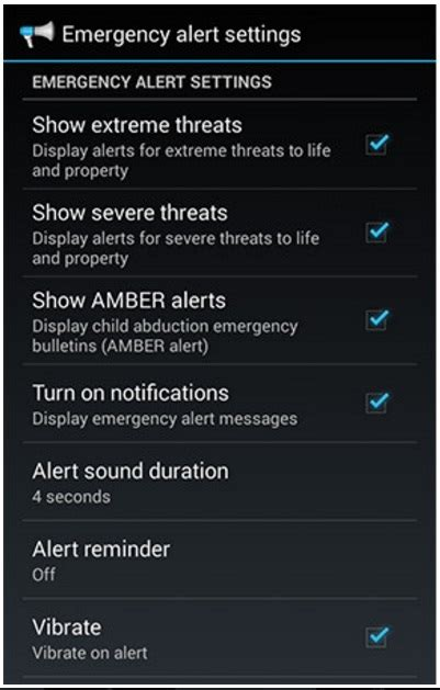 emergency alerts android turn and turn on emergency alerts on android phones and tablets