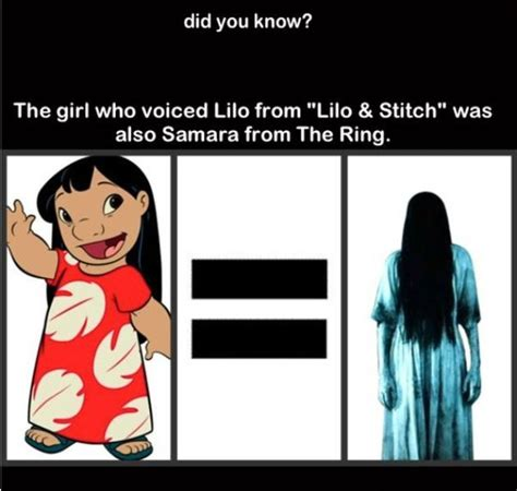 Halloween Scary Crafts - the who voiced lilo from lilo and stitch was also samara from the ring pictures photos