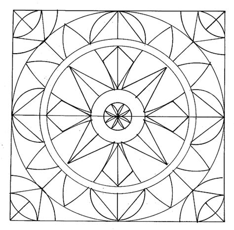 geometric coloring pages 5 coloring kids