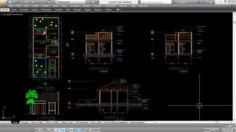 tutorial autocad gambar rumah download filnya disini