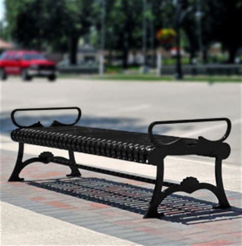 belson outdoors benches lemars series ribbed steel outdoor backless bench belson outdoors 174