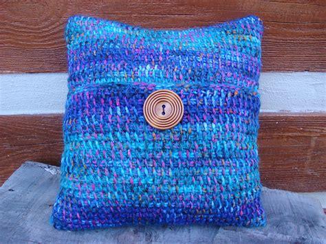 crochet patterns galore tunisian crochet pillow cover