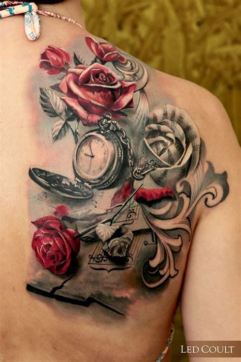 music rose tattoo designs roses back best design ideas