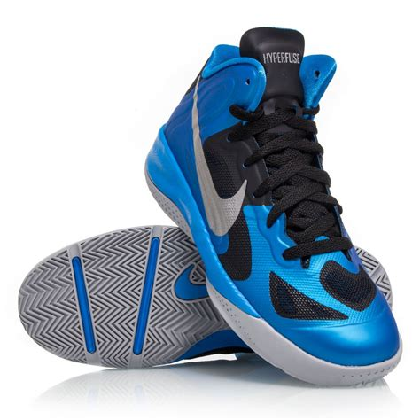 hyperfuse nike basketball shoes nike hyperfuse gs junior basketball shoes blue black
